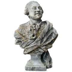 Stone Bust Depicting Louis XVI, 18th Century