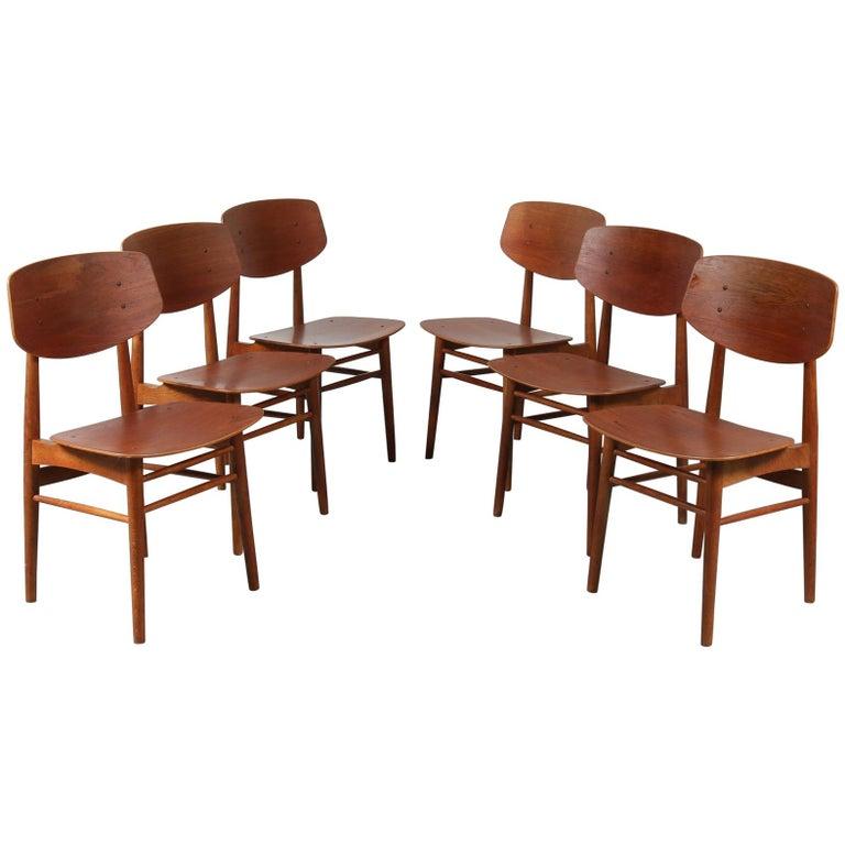 Børge Mogensen Dining Chairs for Søborg Møbelfabrik, Denmark, 1950