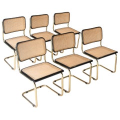 Set of Six Chairs Model B32 Cesca, Italy, 1960