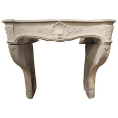 18th Century Louis XV Decorative Fireplace in French Limestone