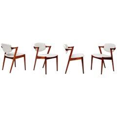 Kai Kristiansen Model 42 Dining Chairs, Rosewood