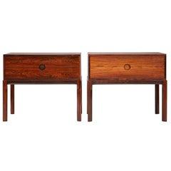Kai Kristiansen Bedside Cabinets, Rosewood