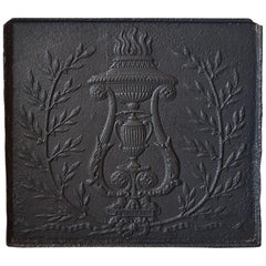Late 18th Century French Louis XVI Fireplace Back Plate