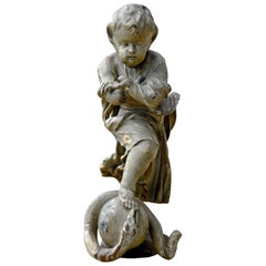 Wooden Statue Representing Jesus as a Child, 18th Century