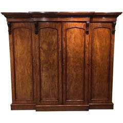 Superb Quality Mahogany Victorian Period Breakfront Wardrobe