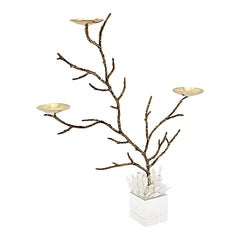Bronze Finish Branches Candleholders