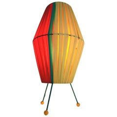 Vintage Colored Table Lamp, 1950s