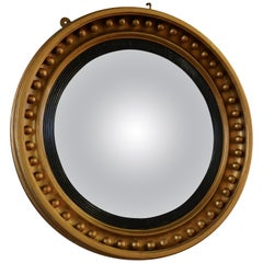 Large Regency Convex Gilt Wall Mirror