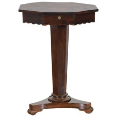 Italian, Naples, Neoclassical Mahogany & Mixed Veneers Work Table