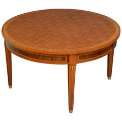 Early 20th Century Rosewood and Inlaid Coffee Table