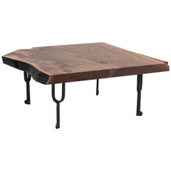 Tuning Fork Table in Walnut and Blackened Cast Bronze
