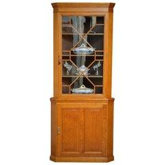 Late Victorian Oak Floor Standing Corner Cupboard
