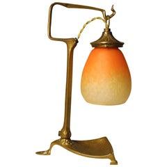 Friedrich Adler Bronze Table Lamp, Art Nouveau, 1900s