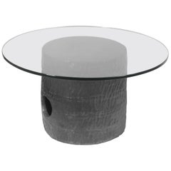 Jonathan Nesci w/ Robert Pulley Ceramic Table with Black Coppered Glaze 18/17