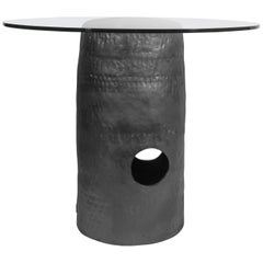 Jonathan Nesci w/ Robert Pulley Ceramic Dining Table Black Coppered Glaze 18/20