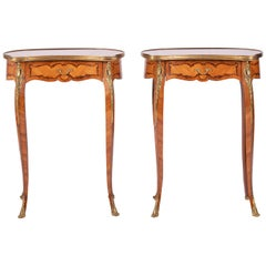 Pair of French Kidney Shaped Side Tables