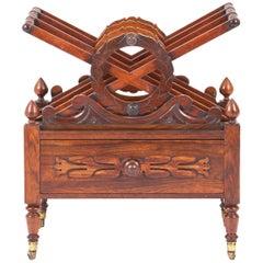 19th Century English Rosewood X Frame Canterbury