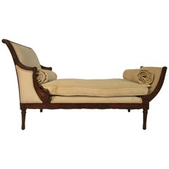 1940s French Classical Chaise Lounge