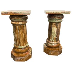 Pair of Contemporary Marble Pedestals
