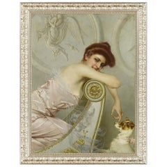 Alluring Gaze, after Oil Painting by Belle Époque artist Vittorio Matteo Corcos