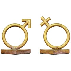 Curtis Jere Sex Symbol Sculpture Bookends