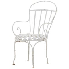 Powder Coated White Metal Patio Chair