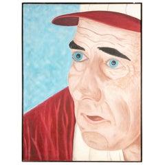 Pat Jensen 'American, 1929-2009'Oil on Canvas, 'Baseball Manager'