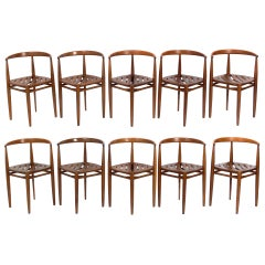 Set of Ten Danish Modern Dining Chairs