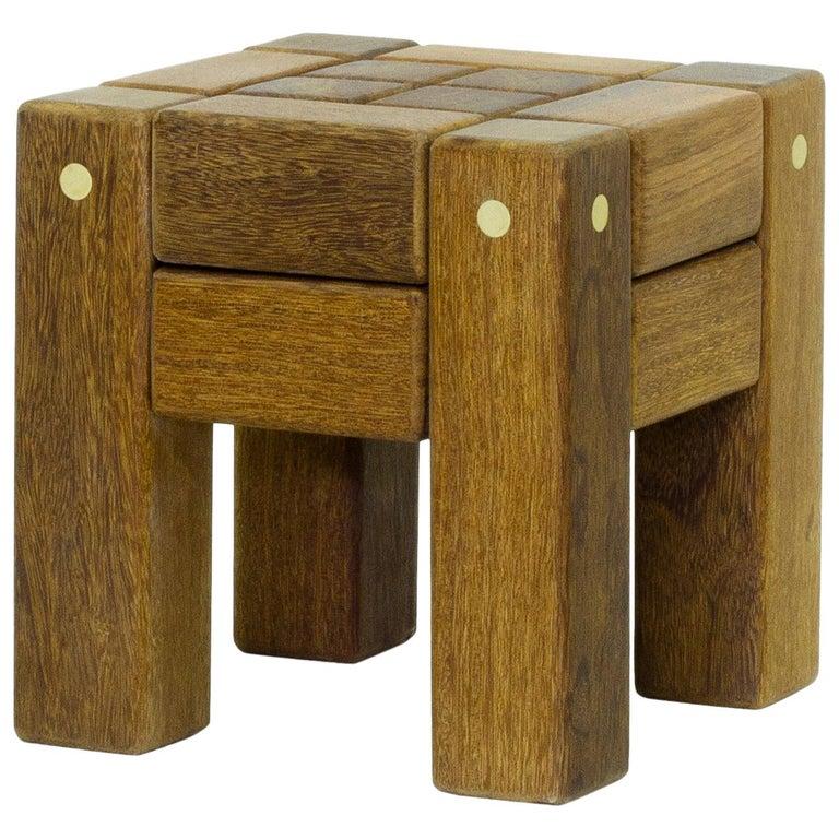 Hardwood Stool, Brazilian Contemporary Design by O Formigueiro