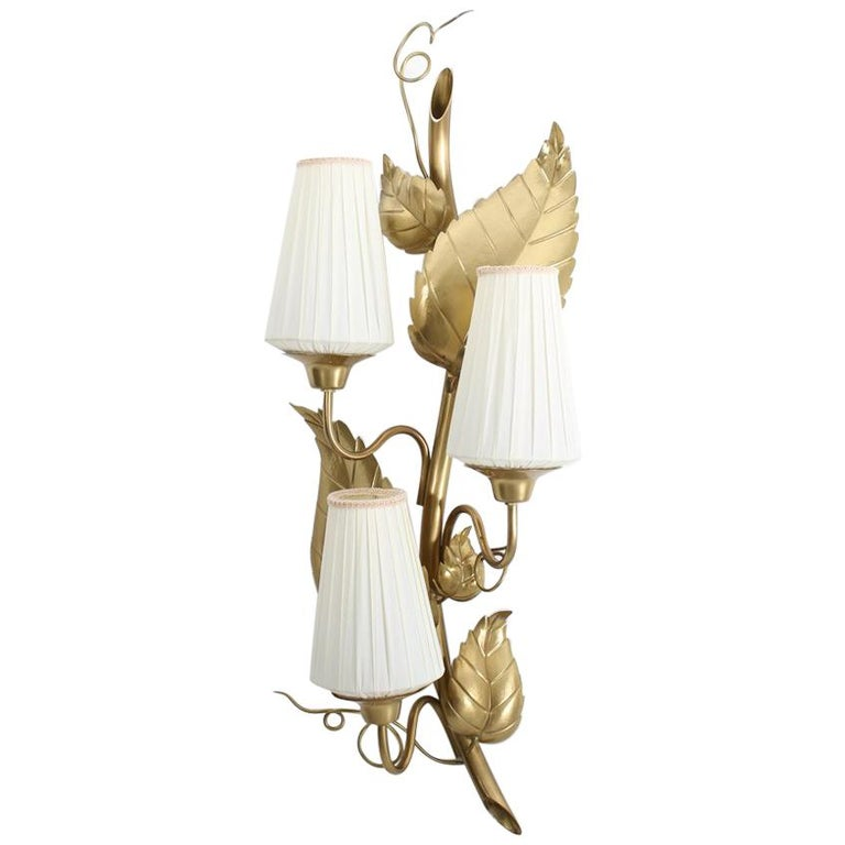 "Swedish Wall Lamp ""Rankan"" in Brass by Hans Bergström for Ateljé Lyktan"