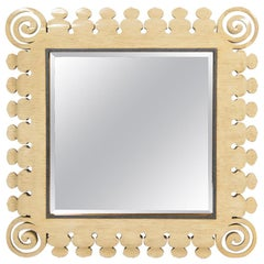 20th Century Reticulated Faux Bone Mirror