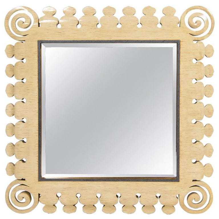 20th Century Reticulated Faux Bone Mirror