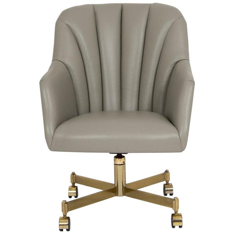 Ward Bennett Leather Office Chair
