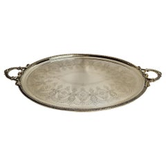 Antique English Mappin & Webb Sheffield Silver Plate Serving Tray