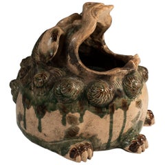 19th Century Ceramic Shishi Lion Hand Warmer, Japan