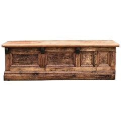 Large Solid Pine Victorian Shop Counter