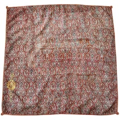 19th Century Antique Persian Handwoven Textile 'Termeh' with a Crest