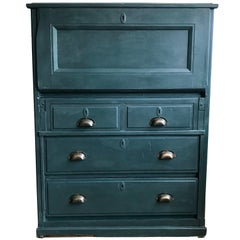 Painted Bureau with Drawers