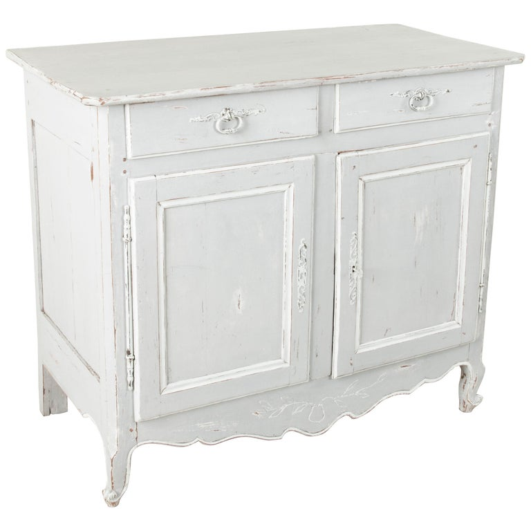 Late 19th Century French Louis XV Style Painted Two-Door Buffet or Sideboard