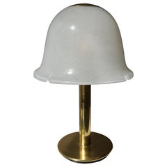 Table Lamp in Murano Glass and Brass