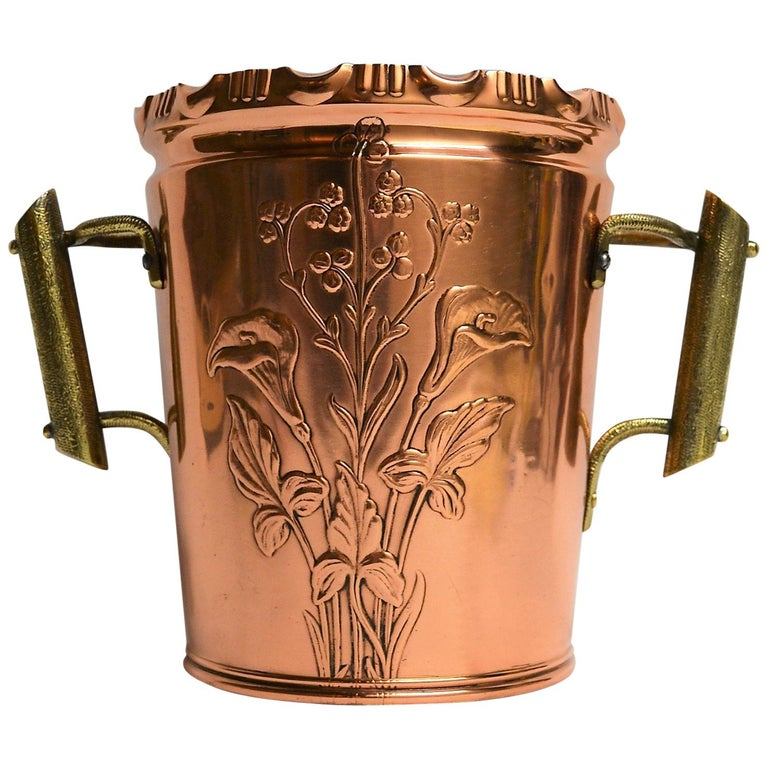 Antique Copper and Brass Champagne or Wine Cooler