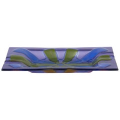 Art Glass Ashtray by Higgins