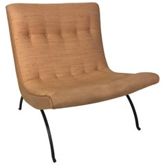Early Scoop Chair by Milo Baughman, Wrought Steel Legs