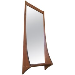 1960s Walnut Entry Mirror