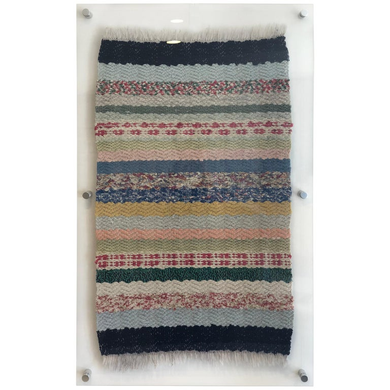 Swedish Rug in Acrylic Frame