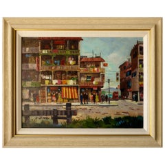 San Francisco Street Scene Signed G. Jung