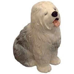 Old English Sheepdog Model by Beswick Pottery 'Fireside Model'