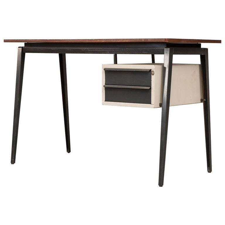 Industrial Metal Desk with Prouve Style Legs