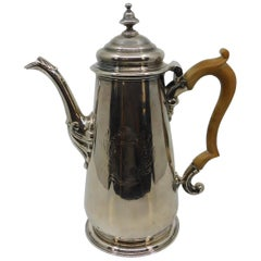 18th Century King George II Silver Coffee Pot
