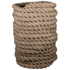 Vintage Thick Nautical Deck Rope, circa 1940-1960